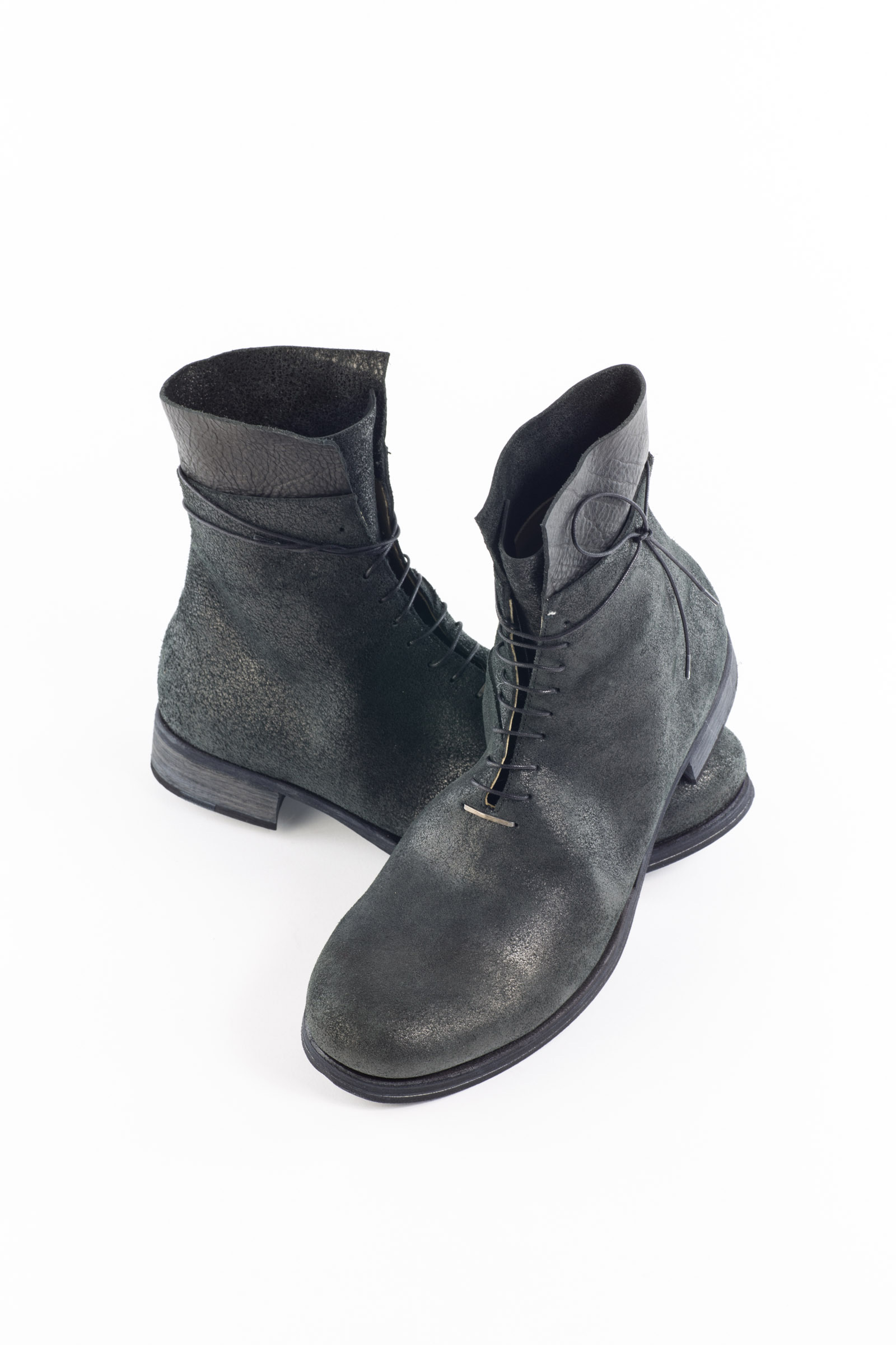 Schnürboots Anthrazit Black